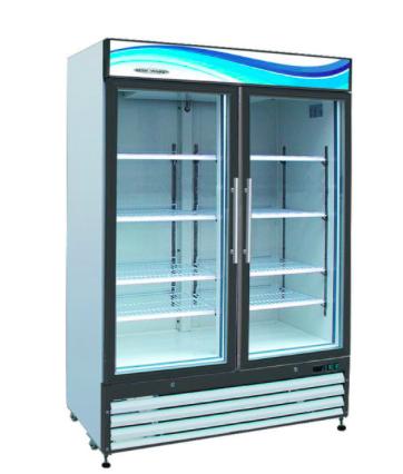 GR-35 2 Glass Door Reach-In Refrigerator 35 cu. ft.