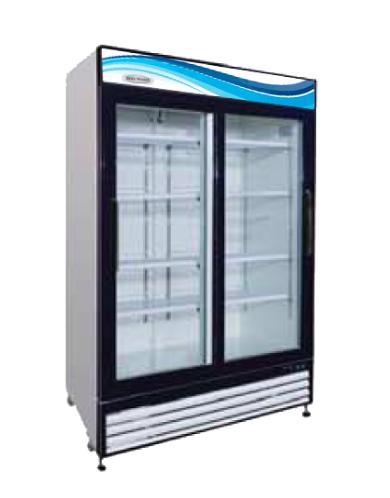 GR-48S 2 Glass Sliding Door Reach-In Refrigerator 48 cu. ft.