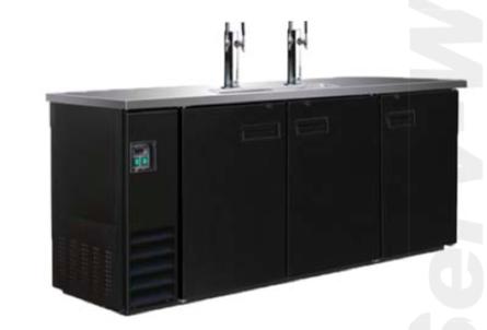 DDBD4-2 73 in. Beer Dispenser