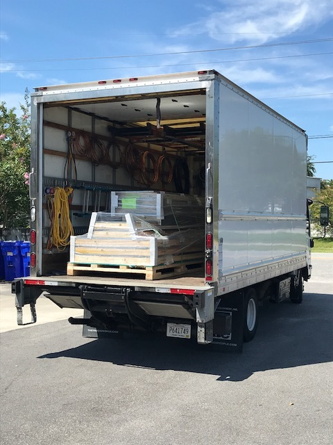 Equipment Delivery - Lift-gate and fork-lift delivery throughout Coastal Carolina