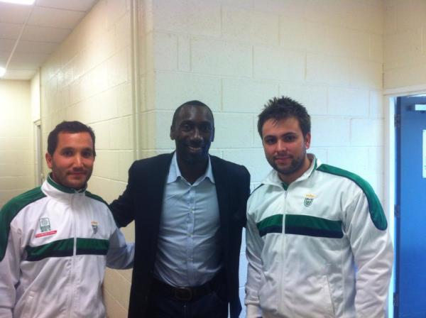 With Jimmy Floyd Hasselbaink