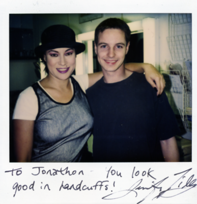 With Jennifer Tilly on Bride of Chucky