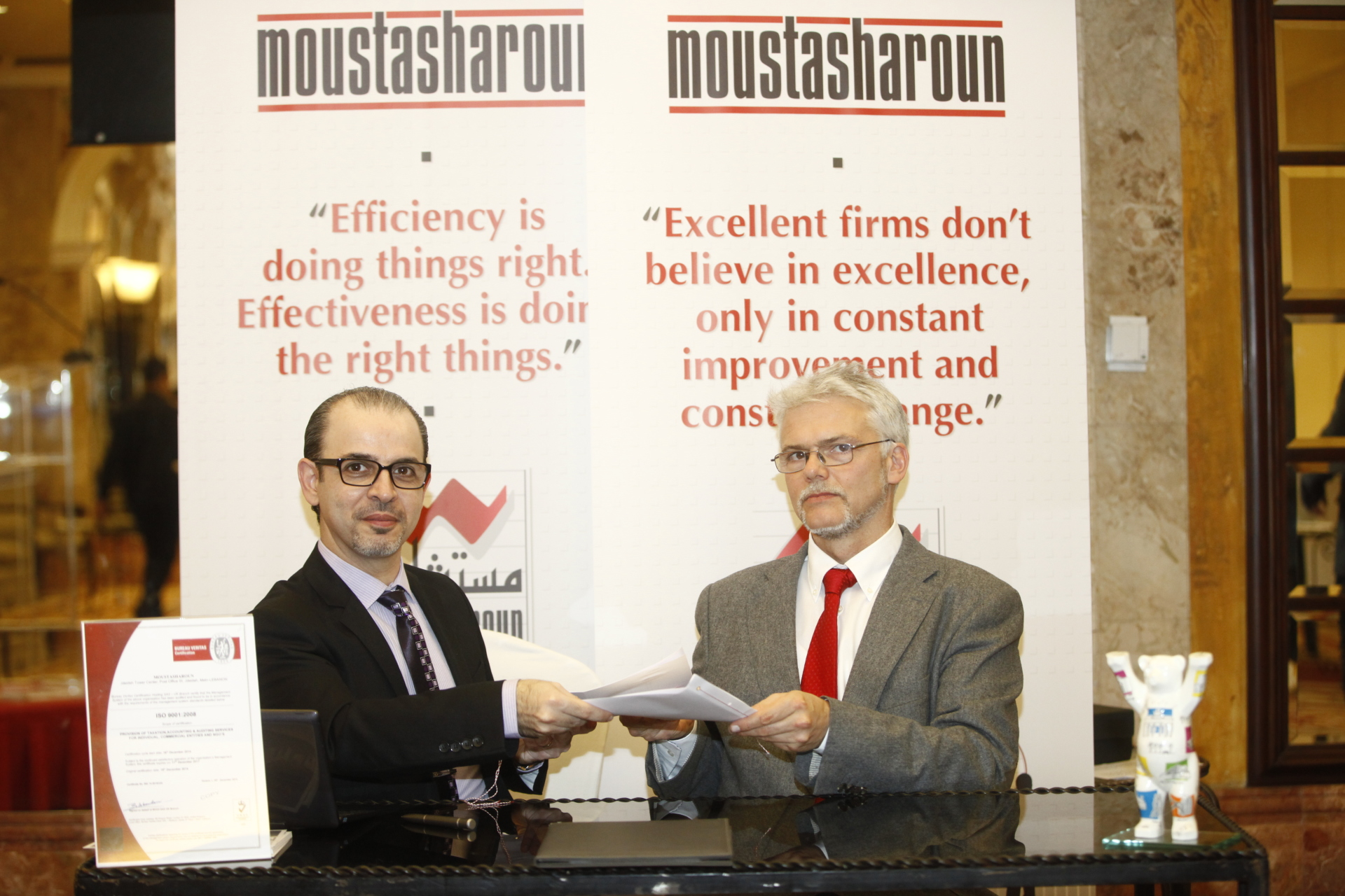 Moustasharoun Bureau signing the partnership  with Empacta