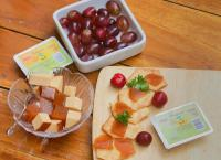 Guava Grapes, Cheese and crackers