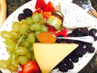 Guava on the go with grapes and cheese