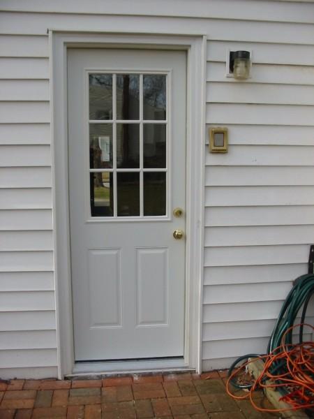 New exterior door