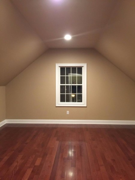 Finished insulated attic