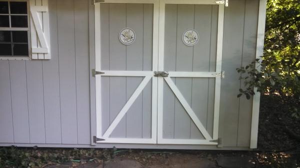 Repaired shed door
