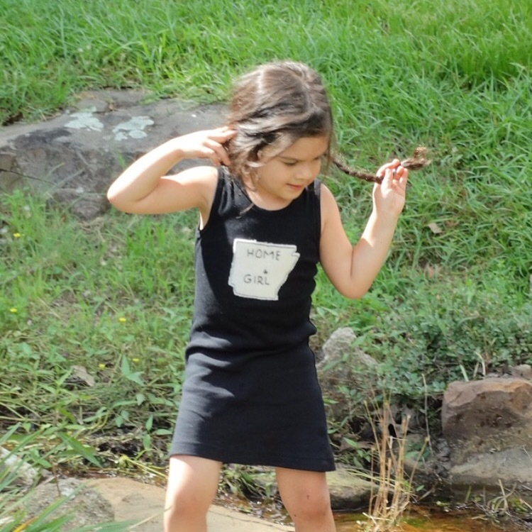 AR Tees, Arkansas tees, state tees, AR dress, AR Clothing, Felted Hand Applique dress, Felted dress, Hand applique clothing