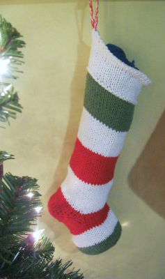 Hand Knitted Christmas Stocking, Christmas Stocking, Knitted Christmas Stocking, Stocking, Christmas Stocking