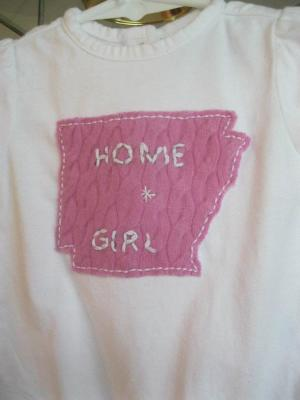 AR Tees, Arkansas tees, state tees, Hand Applique Arkansas Tees, 501, home girl tees, home boy tees, tshirt, hand applique tshirt, felted tshirt
