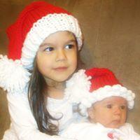 Hand knitted Santa Hat, Santa Hat, Knitted Santa Hat, Pompon Santa Hat, Pompon, Bell Santa Hat