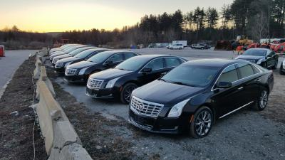A small army of Cadillac XTS Sedans.  (North Country Auctions Photo)