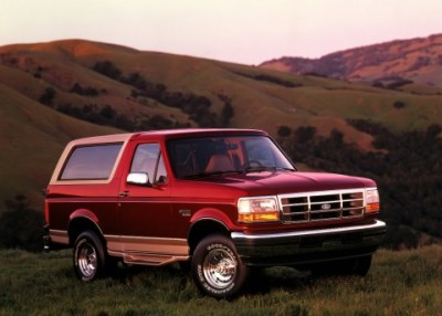 The 1996 Ford Bronco  (Ford Motor Company Photo)
