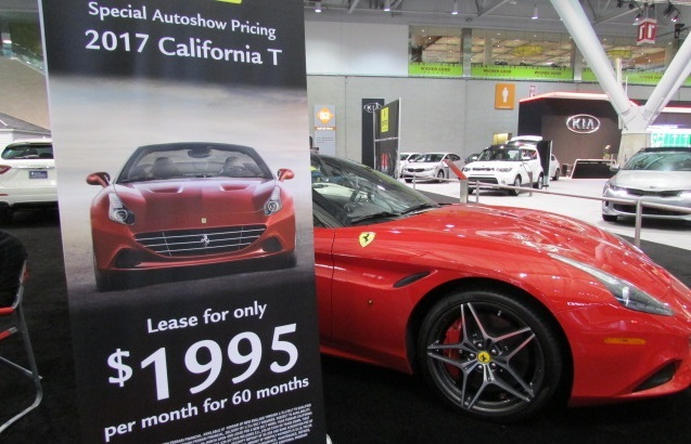 Ferrari Offers Boston Auto Show Lease Special