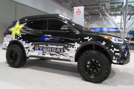 The Hyundai Santa Fe Rockstar concept vehicle.  (Mike Twist Photo)