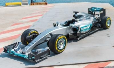 The AMG Mercedes-Benz Formula One car.  (Mercedes-Benz Photo)