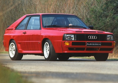 The 1984 Audi Quattro Coupe.  (Audi PR Photo)
