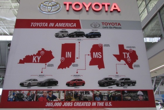 Toyota produces manys of its vehicles in the United States.  (Mike Twist Photo)