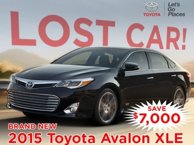 One Lost Avalon - Get a Deal on a New '15...Yes...'15 Car