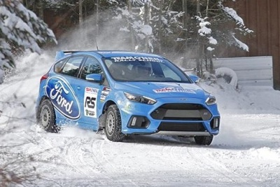The Focus RS in the snow.  (Team O'Neil Photo)