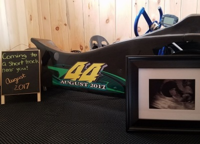 Racing Couple Make an Epic Pregnancy Announcement