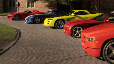 A line-up of Dodge concept cars.  (FCA Photo)