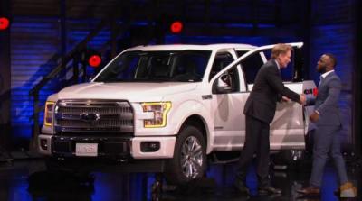 Conan O'Brien Presents James White with a Ford Truck  (Team Coco Photo)