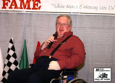 Bobby Walker is inducted in the Maine Motorsports Hall of Fame in 2008  (MMHoF Photo)