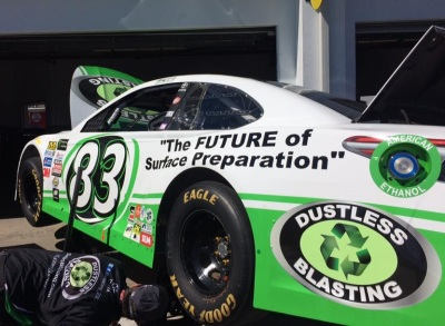 Corey LaJoie's #83 Toyota.  (BK Racing Photo)