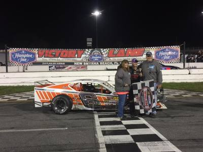 Ryan Preece in victory lane.  (Ryan Preece Racing Photo)