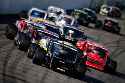 NASCAR Whelen Modified Tour action at NHMS.  (NASCAR Photo)