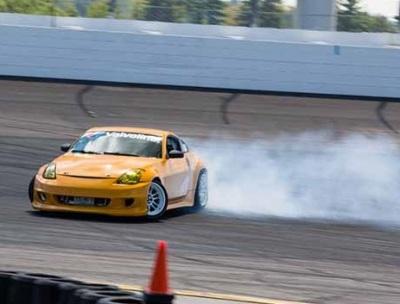 Drifting at NHMS.  (Team O'Neill Photo)