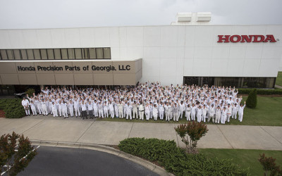 The staff at the Honda plant in Tallapoosa, Georgia.  (Honda Photo)