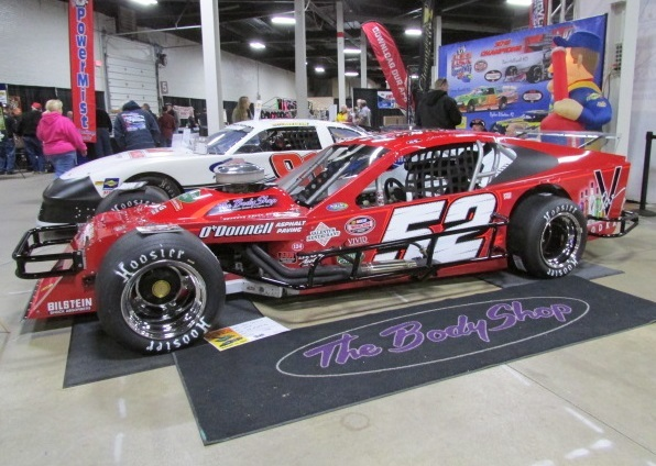 The Lee USA Speedway display at Racearama.  (Mike Twist Photo)