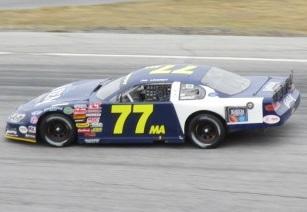 Jimmy Linardy's #77MA Late Model.  (Mike Twist/Speed51.com Photo)