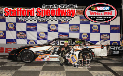 Paul Arute in victory lane.  (Stafford Motor Speedway Photo)