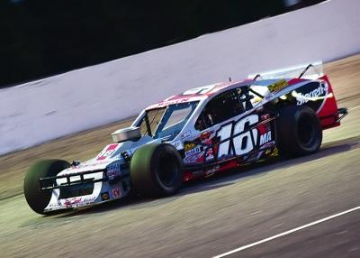 Timmy Solomito's #75 Modified.  (Adam Glanzman/NASCAR Photo)