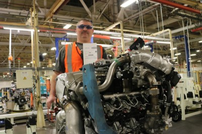 The 2 millionth Duramax engine.  (GM Photo)