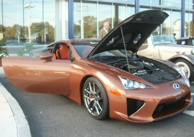 Herb Chambers' own Lexus LF-A has been to Cars and Coffee before.  (Mike Twist Photo)