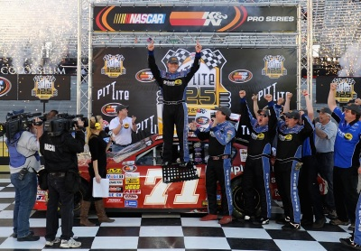 Eddie MacDonald has won at Bristol before - in NASCAR East Series competition.  (NASCAR Photo)
