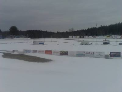 A few weeks ago, it was snowy at Lee and it hasn't all melted yet.  (Lee USA Speedway Photo)
