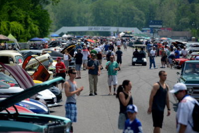 Photo of 2016's 7th Annual Royals Garage Car Show by Greg Clark.  (Lime Rock Park Photo)