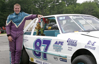 Eric Bourgeois and his mini stock.  (TSMP Photo)