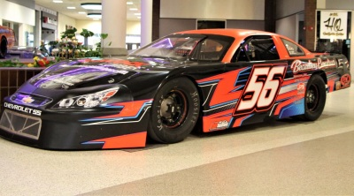Evan Beaulieu's #56 at the Auburn Mall Racecar Show.  (Sandy Haley Photo)
