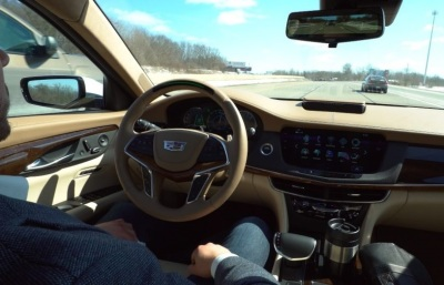 Hands Free driving is what Super Cruise is all about.  (GM Photo)