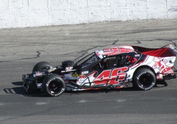 Woody Pitkat's #46 Modified.  (Mike Twist Photo)