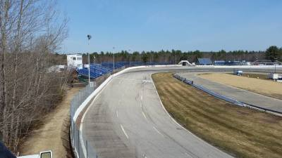 This photo shows the current track conditions at Lee.  (Lee USA Speedway Photo)