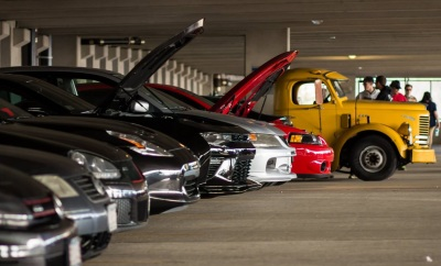 One corner of the Spring Thaw Car Show  (River Hawk Racing Photo)