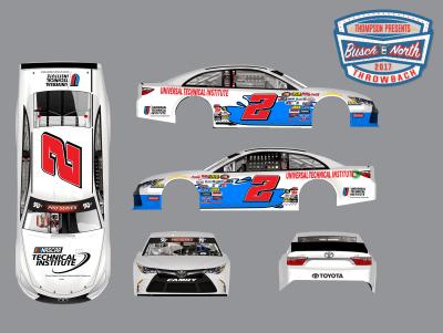 Collin Cabre's paint scheme for Thompson.  (Thompson Speedway Motorsports Park Image)